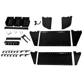 KT-400-WRK B Wall Control Slotted Tool Board Workstation Accessory Kit For Pegboard & Slotted Tool Board, Black