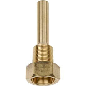 "E35-75BS 3/4"" NPT Brass Thermowell 3 1/2"" stem"