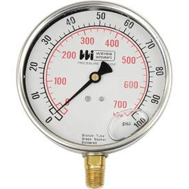 "LF441-300-4L 4"" dial , liquid filled, 1/4"" bottom, 0-300PSI"