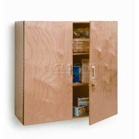"lockable laminated wall cabinet, 36""w x 15""d x 36""h, natural Lockable Laminated Wall Cabinet, 36""W x 15""D x 36""H, Natural"