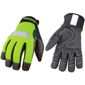 08-3710-10-M High Visibility Performance Gloves - Safety Lime - Winter - Medium