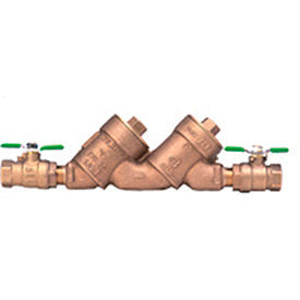 zurn 1-950xlt2 1 in. fnpt x fnpt double check valve assembly - 175 psi - lead-free cast bronze Zurn 1-950XLT2 1 In. FNPT x FNPT Double Check Valve Assembly - 175 PSI - Lead-Free Cast Bronze