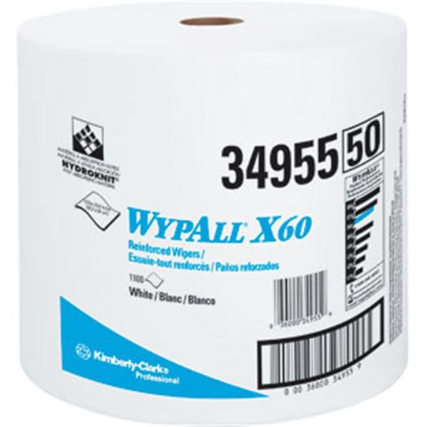 WypAll* X60 Wipers, Jumbo Roll, White, 1100/Roll