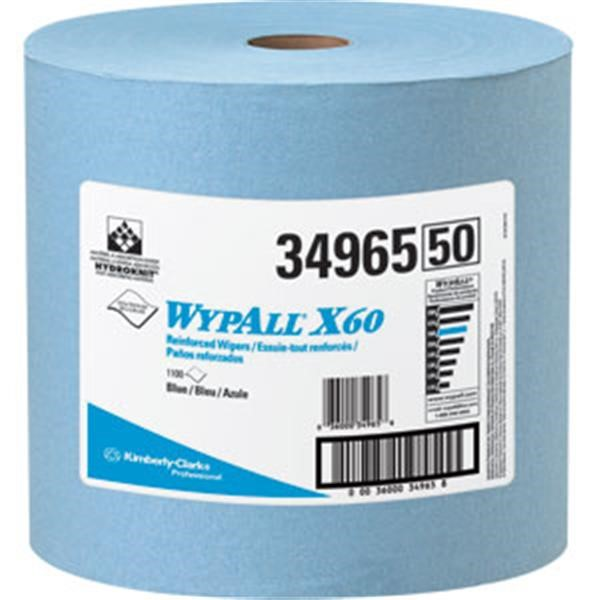 WypAll* X60 Wipers, Jumbo Roll, Blue, 1100/Roll