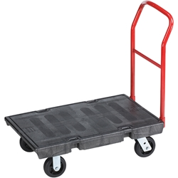 "Rubbermaid® Heavy-Duty Platform Truck, 36"" x 24"", Black"