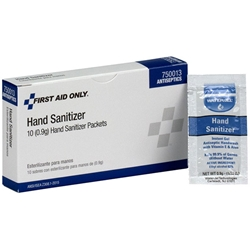 Hand Sanitizer Packets, 0.9 g, 10/Box