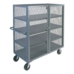 "Jamco Mesh Security Truck, 4 Shelves, 57""H x 48""W x 24""D"