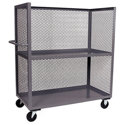 Jamco Mesh Truck, 3-Sided, 2 Shelves