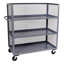 Jamco Mesh Truck, 3-Sided, 3 Shelves