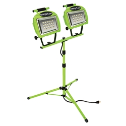 Ecozone® High Intensity Twin Head LED Work Light w/ 5 Cord, Green