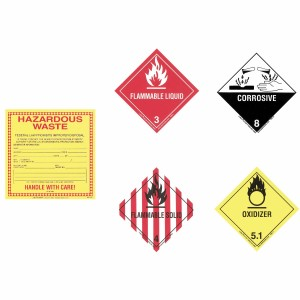 SpillTech A-LABELS Hazardous Labels A-LABELS, Spilltech, Absorbents, Sorbents, Industrial Safety, Spills, Cleanup, Spill Cleanup